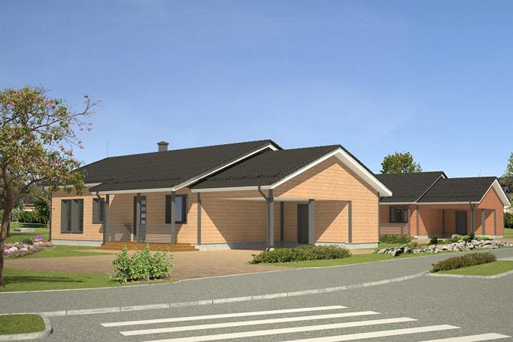 Kirkkonummi - 2kpl omakotitaloja 110 m2