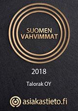 Suomen Vahvimmat: Talorak Oy